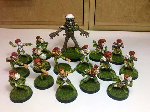 Proyecto Equipo Inmortal de Elfos Jugadores de Blood Bowl  - Escala 28mm