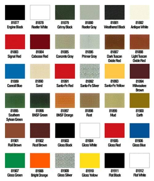 carta colores oleo: