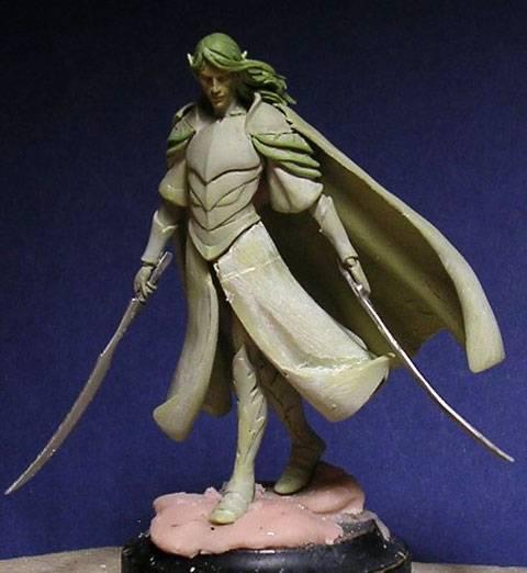 Figura de un Elfo modelado con masillas Milliput y Duro - Paso 6