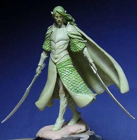 Figura de un Elfo modelado con masillas Milliput y Duro - Paso 8
