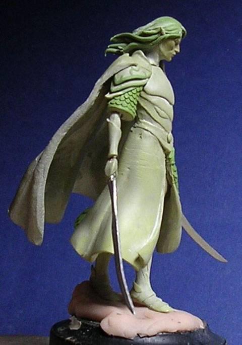Figura de un Elfo modelado con masillas Milliput y Duro - Paso 9