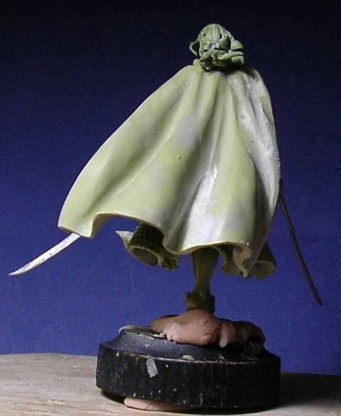 Figura de un Elfo modelado con masillas Milliput y Duro - Paso 10
