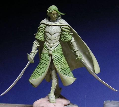 Figura de un Elfo modelado con masillas Milliput y Duro - Paso 11