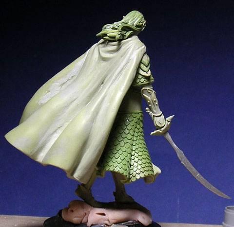 Figura de un Elfo modelado con masillas Milliput y Duro - Paso 12