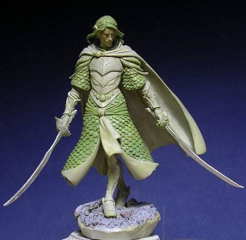 Figura de un Elfo modelado con masillas Milliput y Duro - Paso 13