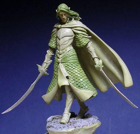 Figura de un Elfo modelado con masillas Milliput y Duro - Paso 14