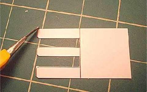 Decidí cortar los bordes de las tres terminaciones para hacerlas más redondeadas