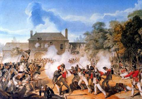 la defensa de Hougoumont