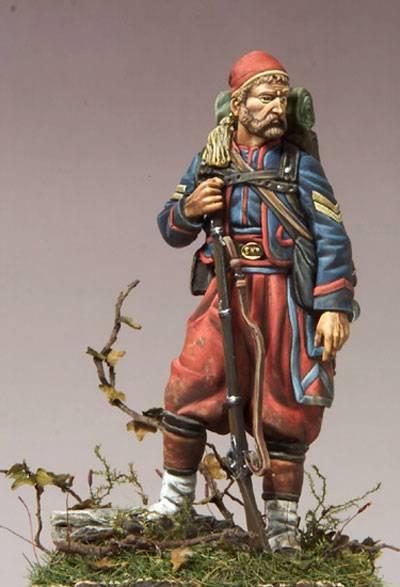 Zuavo de Infanteria 1855 - Escala 54mm