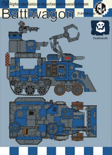 Battlewagon - Recortable  Warhammer 40.000 - Escala 28mm.