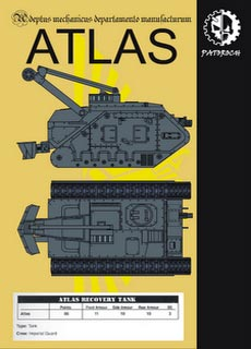 Atlas - Recortable  Warhammer 40.000 - Escala 28mm.