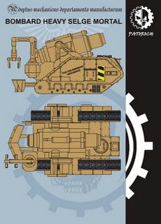 Heavy Siege Bombard - Bombardero de Asedio Pesado - Recortable  Warhammer 40.000