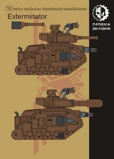 Leman Russ Exterminator - Recortable  Warhammer 40.000 - Escala 28mm.