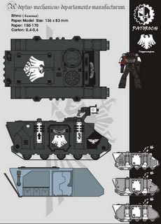 Rhino MkII - Recortable  Warhammer 40.000 - Escala 28mm.