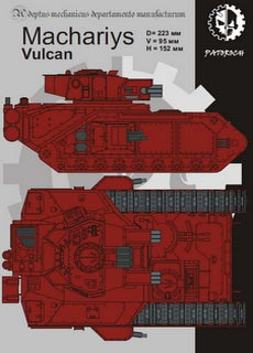 Machariys Vulcan - Recortable  Warhammer 40.000 - Escala 28mm.