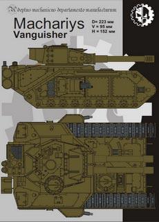 Mahariys II Vanquisher - Recortable  Warhammer 40.000 - Escala 28mm.