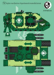 Land Raider II - Recortable  Warhammer 40.000 - Escala 28mm.