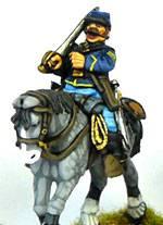 Las siguientes figuras componen el contingente del mandado por el General Custer. Las figuras se encuentran a escala de 28 mm